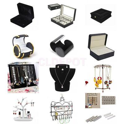 Jewellery Earrings Ring Necklace Watch Display Case Box Stand Bust Holder Rack