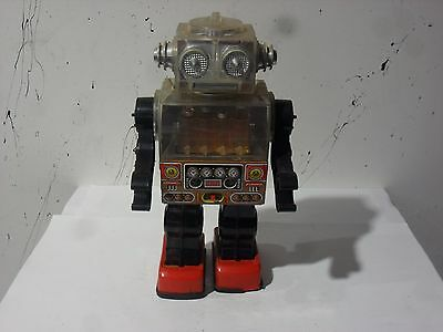 Vintage 1970's Piston Toy Robot  Made in Taiwan by S.J.M.C0 . (Not Tested)USED