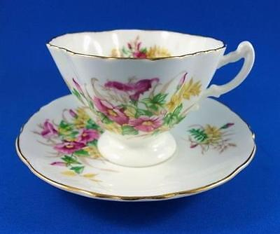 Pretty Pink Florals Hammersley Tea Cup and Saucer Set