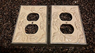 Two Ceramic Electric Plate Covers For Double Wall Plug-In