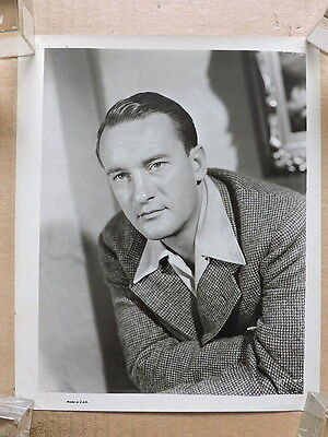 George Sanders original studio portrait photo 1941 Rage in Heaven