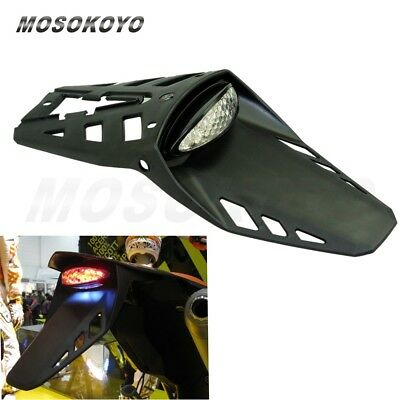 Motorcycle Dirt Bike Rear Fender Brake LED Taillight Fit Motocross KLX KX EXC XC