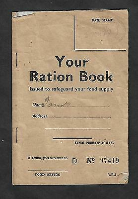 World War Two 1942 Ration Book With Tickets. Issued In New Zealand.