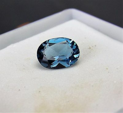 1.50cts  BLUE SPINEL GEMSTONE OVAL CUT 7mm by 5mm FROM SRI LANKA SRILANKA
