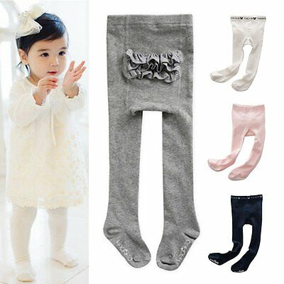 Newborn Baby Girls Hosiery Pantyhose Soft Anti-slip Stockings Socks Tights 0-4Y