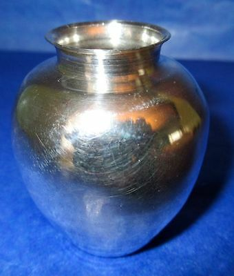 "Sterling Silver Antique Miniature 2.2"" Vase Hand Made in Peru"