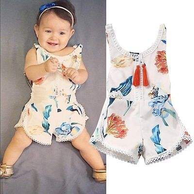 Toddler Kids Infant Baby Girl Backless Romper Jumpsuit Bodysuit Clothes Outfits