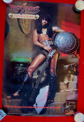 Rick James 1982 R&B poster THROWIN DOWN mint condition
