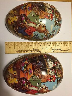 Republic of germany Antique PAPER MACHE EASTER Rabbit Bunny EGG CANDY CONTAINER