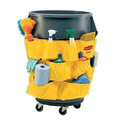 Case Of 6 Rubbermaid Fg264200Yel Brute Receptacle Caddy Bag Yellow Vinyl