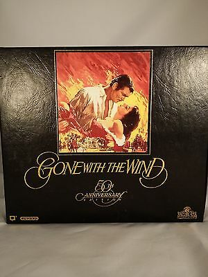 Gone With The Wind 1989 VHS 50th Anniversary Collectors Edition Box Set Of 2.  H