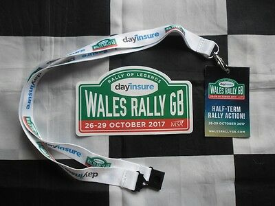 Official 2017 Wales Rally Gb Lanyard And Sticker Decal New Wrc