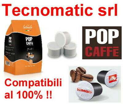 100 Capsule Caffe Pop Tostatura Scura Compatibili Uno System Indesit Kimbo Illy