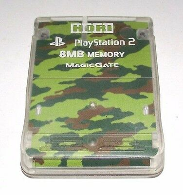 Hori MagicGate PS2 Memory Card Green Camouflage Playstation 2 8MB