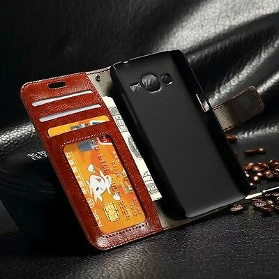 Luxury Leather Case Magnetic Flip Card Wallet Cover For Various Mobile Phones N