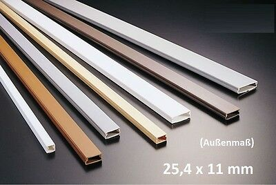 1m Cable channel 25,4x11mm white self adhesive (3,55€/1m)