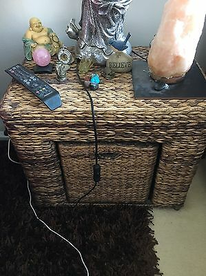 2 X Whicker bedside tables
