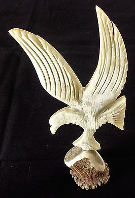 Classic Hand Carved Horn Eagle Bird of Prey John Lacey & Ben Lawers Scotland