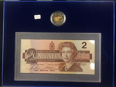 1996 Canada $2 Coin & Bank Note Set