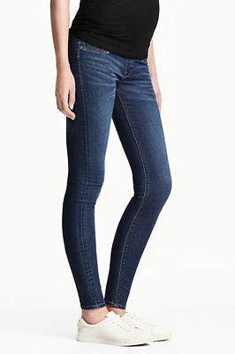 H&M Mama Super Skinny Maternity  Over The Bump Jeans With Shortened Leg - 12
