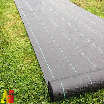2X10M Heavy Duty Woven Weed Control Ground Mulch Landscape Fabric Garden Cover