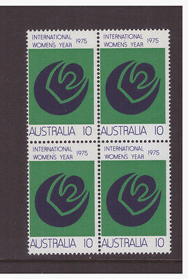 Australia 1975 Women Year SG589 block of 4 mint  stamps