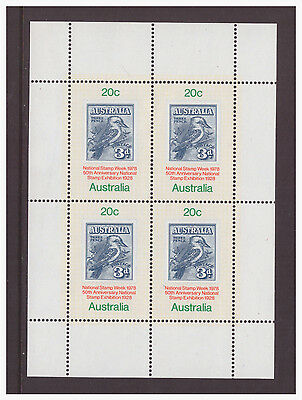Australia 1978 Stamp Exhibition  SGMS695 mini sheet mint hinged stamps