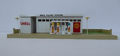 Tri-ang Minic Motorways Shell Filling Station Boxed M1801 + Instructions