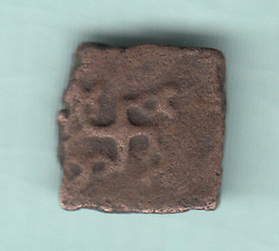 India 2000 Years Old Extremely RARE Copper Ancient Coin D88