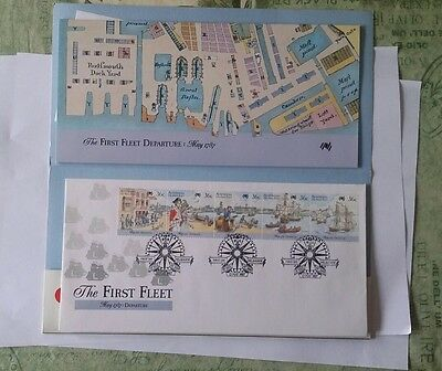 Australia 1987 First Fleet Departure set First Day Cover with leaflet