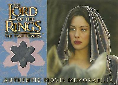 "Lord of the Rings Two Towers: ""Arwen's Requiem Cloak"" Memorabilia Costume Card"