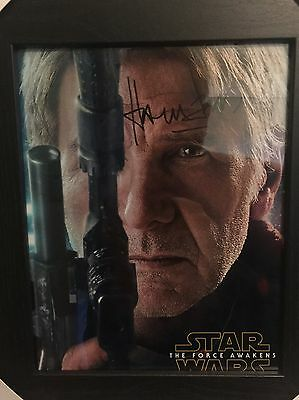 Harrison Ford Signed Photograph With COA Star Wars Han Solo Genuine