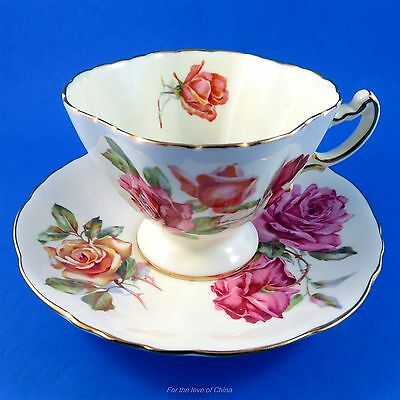 Stunning Roses Hammersley Tea Cup and Saucer Set