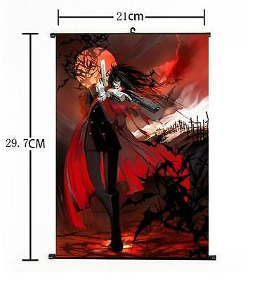 "Hot Japan Anime Hellsing Alucard Cosplay Home Decor Poster Wall Scroll 8""x12"" 01"