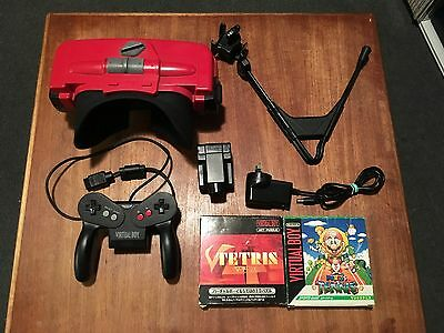 Nintendo Virtual Boy console package + 2 games + Power adapter Working perfectly