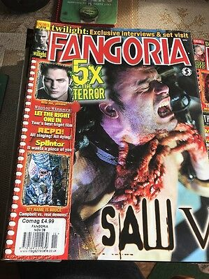 Fangoria Magazine #278 Nov 2008. Horror. Saw 5! Free Uk P+P!
