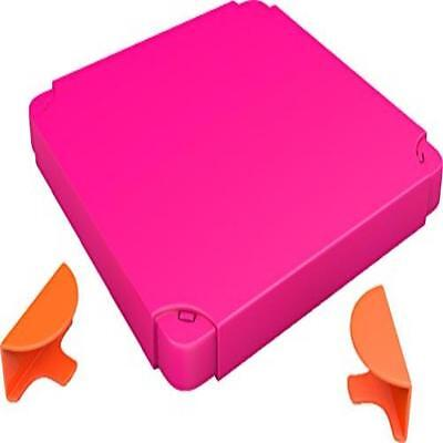 Chillafish Boxtop Pack: Connectable Toy Storage & Play System Top, Pink/Orange