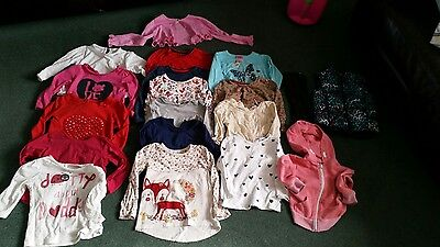 Large girls age 2-3 bundle long sleeve tops, gillet M and S, TU