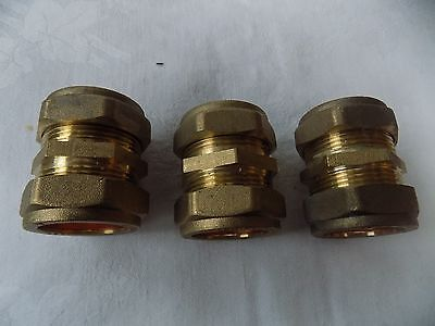 3 Crossling BRASS QUALITY PIPE FITTINGS 28 MM STRAIGHTS BRAND NEW