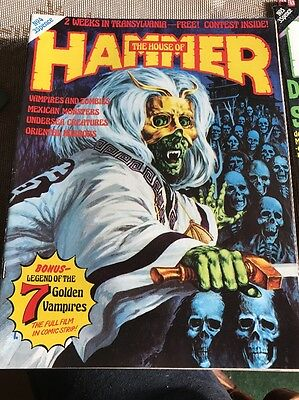 THE HOUSE OF HAMMER #4 - 1976 - Legend of the 7 Golden Vampires - Scarce