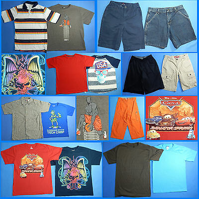 15 Piece Lot of Nice Clean Boys Size 10 Spring Summer Everyday Clothes ss110