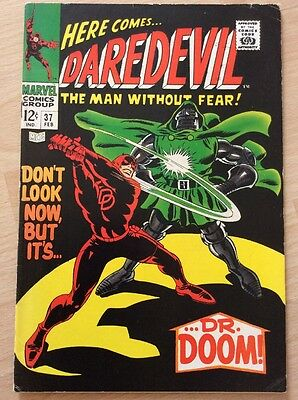DAREDEVIL #37 - 1st PRINT - FINE+ CONDITION - MARVEL COMICS 1968