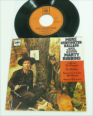 "MARTY ROBBINS - dutch M- 1960 Vinyl 7"" PS EP ""More Gunfighter Ballads"" Country"