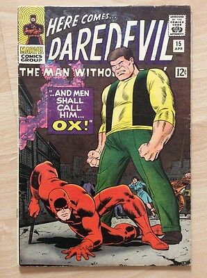 DAREDEVIL #15 - 1st PRINT - VG+ CONDITION - MARVEL COMICS 1966