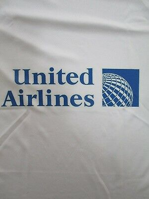 United Airlines - A White Crew Neck Short Sleeve Man's T -Shirt  With Logo.