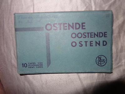 OSTEND OOSTENDE OSTENDE  c1930  fold out set 10 postcards unused 1/s