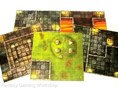 FLOOR PLANS/BOARDS x 5 - DUNGEONS & DRAGONS BOARD GAME - PARKER 2003