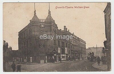 Walham Green - street view with Granville Theatre 1905 postcard Fulham
