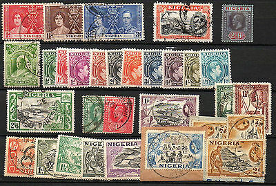 Nigeria Selection Of Stamps As Scanned