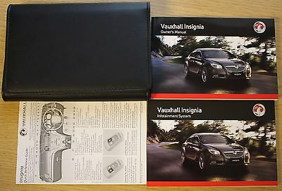 Vauxhall Insignia Owners Manual Handbook Wallet 2008-2013 Pack 11204